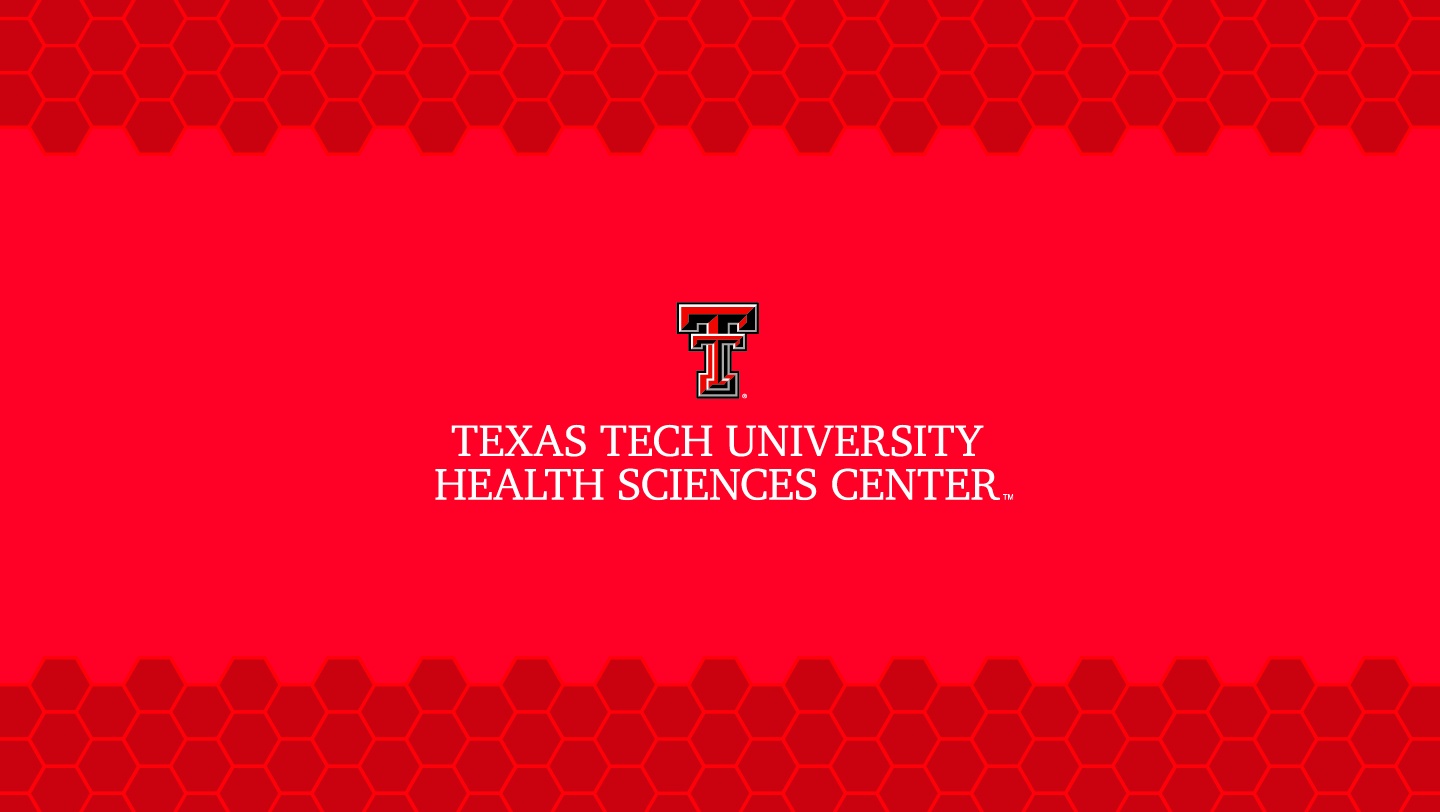 TTUHSC Lockup Power Point Template Preview