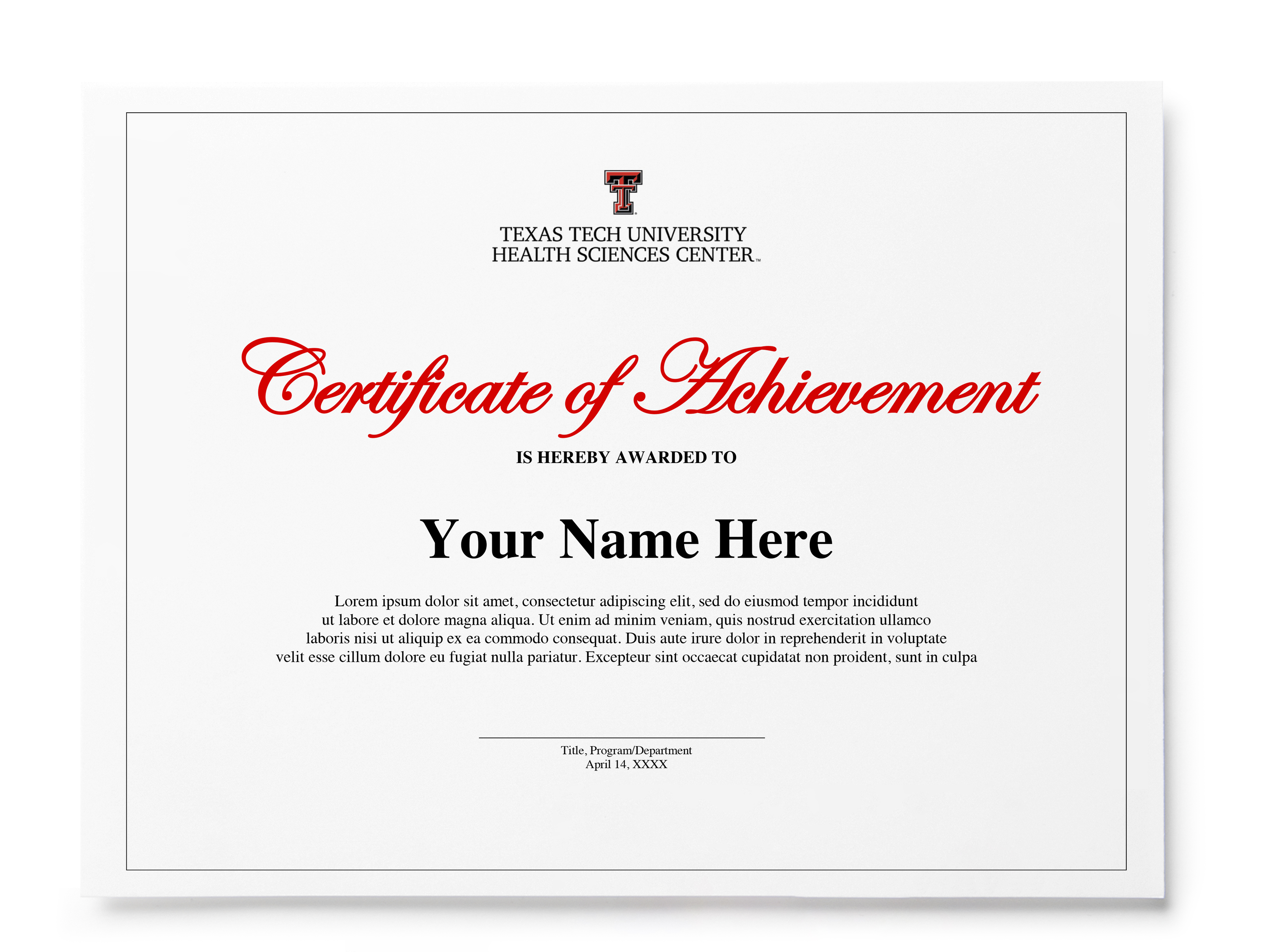 Preview of Certificate