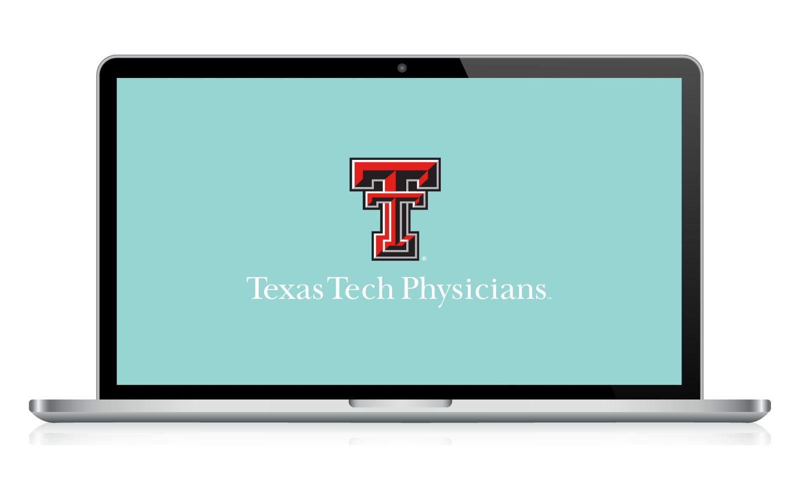Laptop screen displaying Texas Tech Physicians presentation
